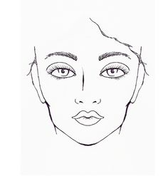 face, fashion illustration by me