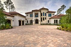 Add timeless appeal to your home with a driveway made from Stonehurst pavers from Tremron. Driveway Pavers, Floor Colors, Classic House, Walkways, Pools, Outdoor Living, Living Spaces, New Homes, Backyard