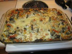 An Cócaire: Sausage Alfredo Pasta Bake: Made a few changes to this reciepe added some collard greens and broccoli. As well used penne pasta and added a little bit of Panko on top. For the sauce i used the Creamy Portabella Mushroom by Pregresso.