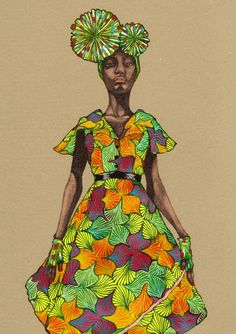 Africa Fashion Guide - Natsuki Otani Illustration