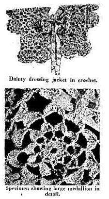 crochet bed jacket pattern  - vintage 1930s free #crochet pattern