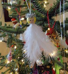 Feather Angel Ornaments. Christmas Angel CraftsHomemade ...