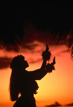 "223351-  Silhouette of hula dancer on Waikiki Beach at sunset.""    by Lonely Planet Images  .  Picture ID: 7706240     Description:   Silhouette of hula dancer on Waikiki Beach at sunset. (Ann Cecil)"