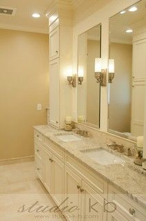 Picture Gallery For Website Farinelli Construction Luxurious bathroom with travertine tiled floor laid diagonally Creamy white built in dream home bathroom Pinterest