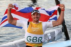 Giles Scott, Storbritannien vann guld i finnjolle, Silver till Vasilij Zbogar, Slovenien, brons Caleb Paine, USA.