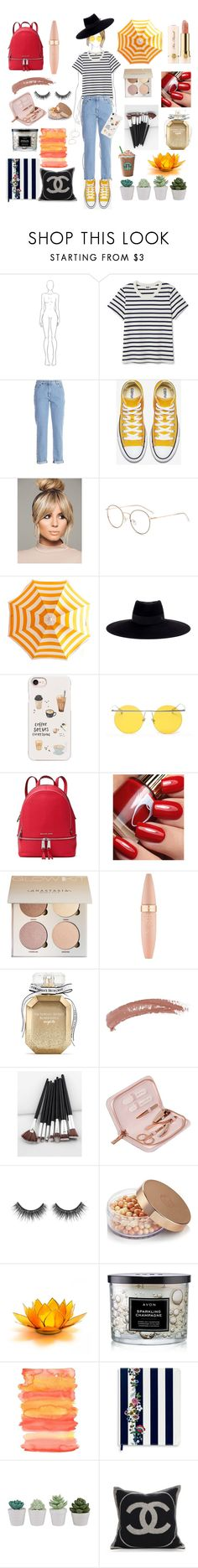 """Rainy days"" by sofivasiliu6 ❤ liked on Polyvore featuring beauty, Moschino, Maison Michel, Casetify, LMNT, MICHAEL Michael Kors, Too Faced Cosmetics, Maybelline, Victoria's Secret and Topshop"