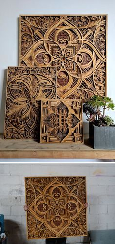 Artist Gabriel Schama creates mesmerizing, laser-cut wood relief sculptures that feature layers of intricate swirls and abstract patterns.