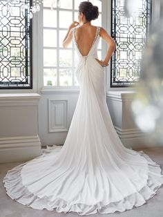 """Closest I've seen to the """"Open V"""" back I envision for Gma's dress"""