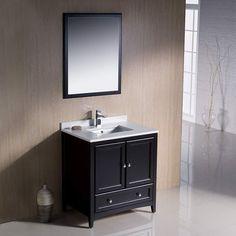 """Fresca Oxford 30"""" Espresso Traditional Bathroom Vanity"""