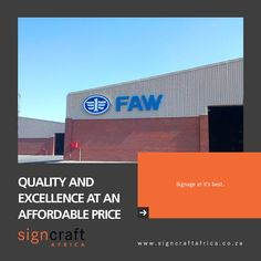 Signcraft Africa, bringing you quality and excellence at an affordable price point! Find out more about Signcraft Africa, and email us at info@signcraftafrica.co.za #CEOCircle #signagedesign #signcraftafrica #indoorsignage #outdoorsignage Outdoor Signage, Signage Design, Price Point, Africa, Signs, Exterior Signage, Shop Signs, Sign, Afro