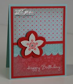 Stampin Up: Triple Treat Flower, Everyday Enchantment DSP
