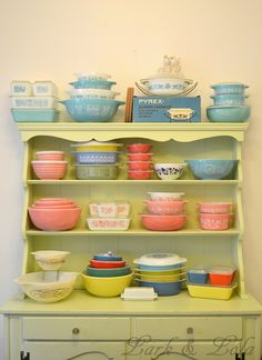 "Vintage Pyrex Patterns Year Made... shelf earlier this year, which has helped to display some ""overflow"