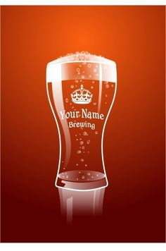 """Personalized Beer Poster in Stout Red by PosterPop: 13 x 19"""" $15.95 #Poster #Beer #PosterPop"""