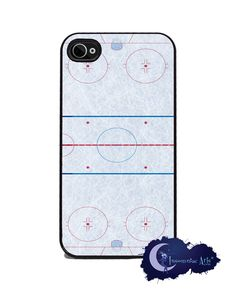 Hockey Rink iPhone Cover - Free US Shipping. $15.99, via Etsy.