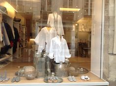 Three White Coton Shirts by Lina Audi pour Liwan