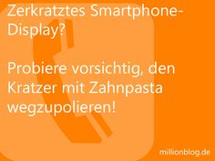 Smartphone Display zerkratzt?
