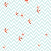 Seaside Love - Chevron fabric by lottiefrank for sale on Spoonflower - custom fabric, wallpaper and wall decals Fabric Patterns, Print Patterns, Chevron Fabric, Blue Chevron, Nursery Fabric, Beautiful Home Designs, Animal Alphabet, Fabric Birds, Summer Baby