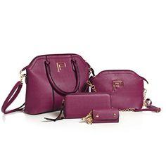 Women's Elegant Handbag - Maroon PU Leather Top Handle Zipper Tote Purse With Designer Logo Emblem - By Pelly Fisher Best Handbags, Black Handbags, Fashion Handbags, Nice Handbags, Tote Purse, Crossbody Bag, Fendi, Gucci, Beautiful Handbags