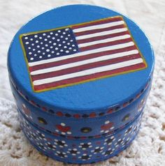 Hand Painted Love Boxes American Flag Box by handpaintedloveboxes reads: When America was created the stars must have danced in the sky... ~Bernar DeVoto