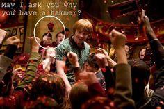 Harry Potter humor is the best!!