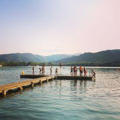 Lake Banyoles, Catalonia, Spain.