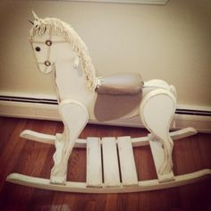 Vintage Rocking Horse my mom refinished <3