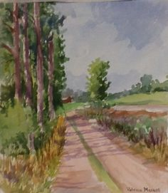 """""""A Drive in the Country""""  Original watercolor By pinner"""