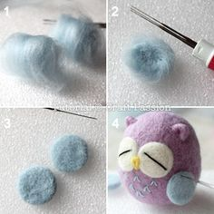Needle Felted Owl - Free Pattern & Tutorial | Craft Passion