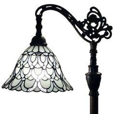 "Amora Lighting AM107FL11 Tiffany Style Floor Reading Lamp 62"" Adjustable Shade This Tiffany Style lamp is handcrafted using the same techniques that were developed by Louis Comfort Tiffany in the earl"