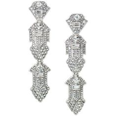 Stella & Dot Casablanca Chandeliers (£41) ❤ liked on Polyvore featuring jewelry, earrings, art deco earrings, drusy earrings, chandelier earrings, art deco chandelier earrings and pave earrings