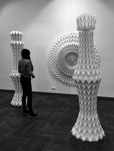 rudanovski-20150509_4612 Origami Lampshade, Origami Design, Paper Folding, Origami Paper, Origami Lamp