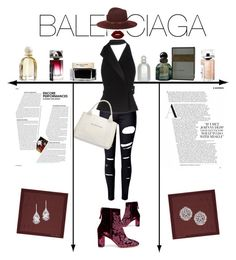 """Balenciaga"" by alma994 ❤ liked on Polyvore featuring WithChic, Balenciaga, Janessa Leone, Lime Crime, Alexandre Birman, Gieves & Hawkes, Plukka and Fallon"