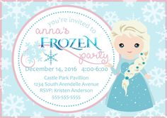 Frozen Birthday Invitation by BumblebeeBeginnings on Etsy