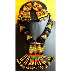 Handmade Multicolor Bead Necklace Set