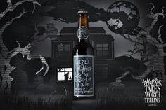 """It's halloween time and we tought it's a great oppotunity to create some interesting content to bring new followers to Two Tales social media. Inspired on the Two Tales beer concept """"Live a tale worth telling"""" we created a halloween version """"Horror tale…"""