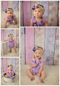 pretty girl in purple romper www.tuleafphotography.com #albanyoneyearphotos #tuleafphotography
