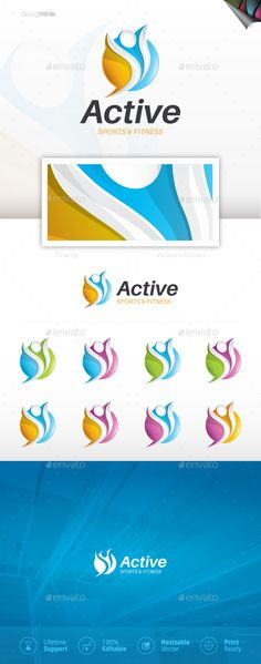 Active Logo — Vector EPS #power #athletic • Download ➝ https://graphicriver.net/item/active-logo/20074643?ref=pxcr