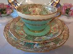 Antique English Trio By Wellington China - Absolutely Outstanding