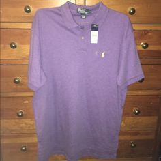 NWT Men's L Polo Ralph Lauren Purple Polo Shirt NWT Men's L Polo Ralph Lauren Purple Polo Shirt, Short Sleeve, 100% Cotton, BRAND NEW!! Polo by Ralph Lauren Tops