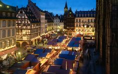 Marche de Noel - Strasbourg! I'd love to go to a German Christmas market because I've heard they're the best, but Strasbourg is right across the border :) Close enough!