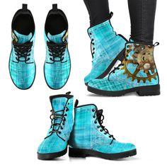 Steampunk Blue Boots (Women's) – Hello Moa