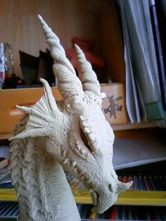 dragon clay art by on DeviantArt - Ceramic Sculpture Figurative, Sculpture Clay, Ceramic Sculptures, Sculpture Ideas, Abstract Sculpture, Clay Projects, Clay Crafts, Dragon Medieval, Statues