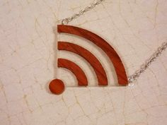 Wood and Acrylic Wifi Necklace by AwesomeIndustriesLLC on Etsy