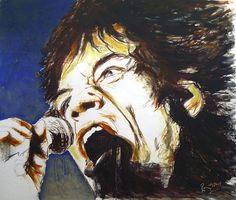 Ronnie Wood the Artist Wood Artwork, Painting On Wood, Wood Paintings, Great Artists, Music Artists, Ronnie Wood Art, Rolling Stones Album Covers, Ron Woods, Caricature Drawing