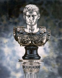 """""""Roman Bust of Brutus""""  Made of silver plated and gold decorations, internal support in marble dust.  From the refined and modeled entirely handmade by Italian goldsmiths.  Brunel Preziosi d'Autore - Italy"""