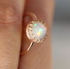 Opal & rose gold X