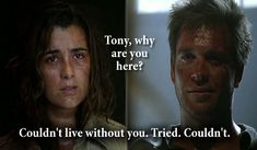 I loved this scene! It breaks my heart that she's leaving the show, she and Tony are perfect together.