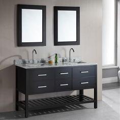 Design Element London 61-Inch Double Sink Espresso Bathroom Vanity Set   Overstock.com Shopping - The Best Deals on Bathroom Vanities