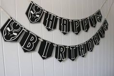 Black Panther Birthday Banner MADE TO ORDER