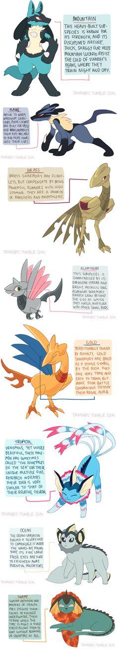 Pokémon Subspecies